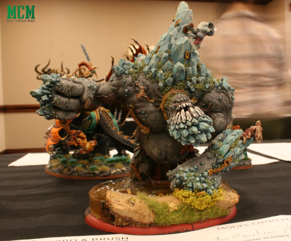 Painted Mountain King Gargantuan painted by Dave Garbe of Wargaming Tradecraft