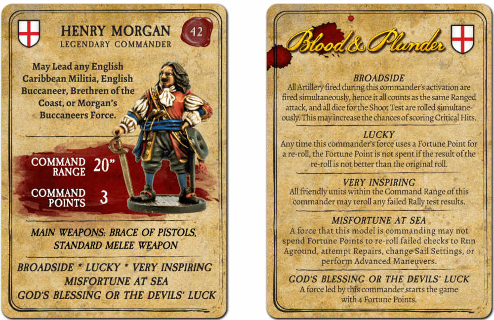 Captain Henry Morgan Blood and Plunder Statistics