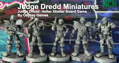 Board Game Miniatures Review - Judge Dredd: Helter Skelter by Osprey Games
