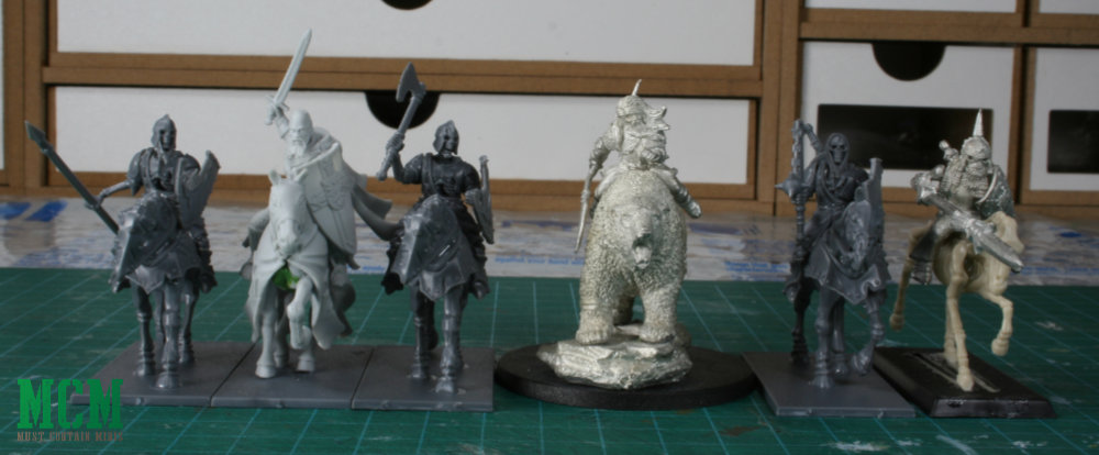 Scale Comparison of Forgotten World miniatures by fireforge games compared to Games Workshop, DGS Games and Fireforge Historical Heroes.