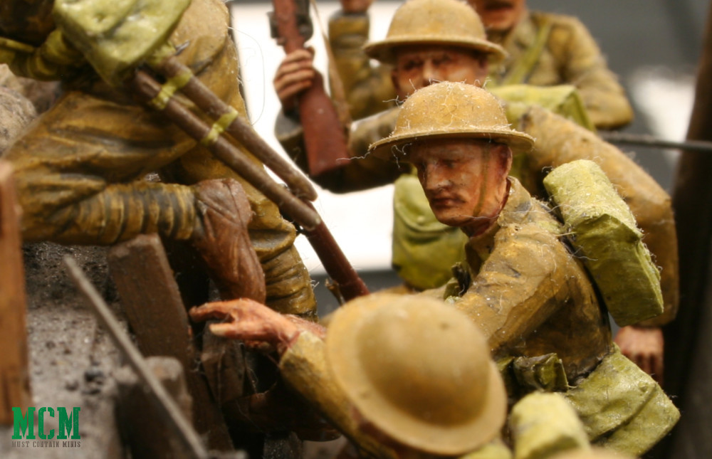 World War One Trench Soldier Diorama
