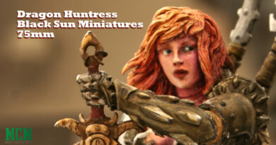 Dragon Huntress 75mm Miniature by Black Sun Miniatures