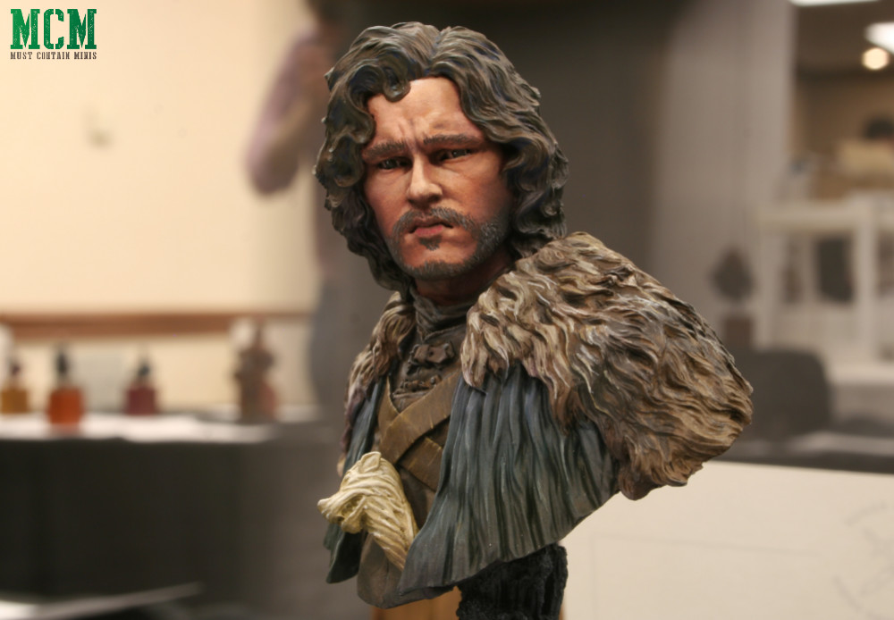 Miniature Bust of the Night's Watch Jon Snow - Game of Thrones - Jon Snow bust
