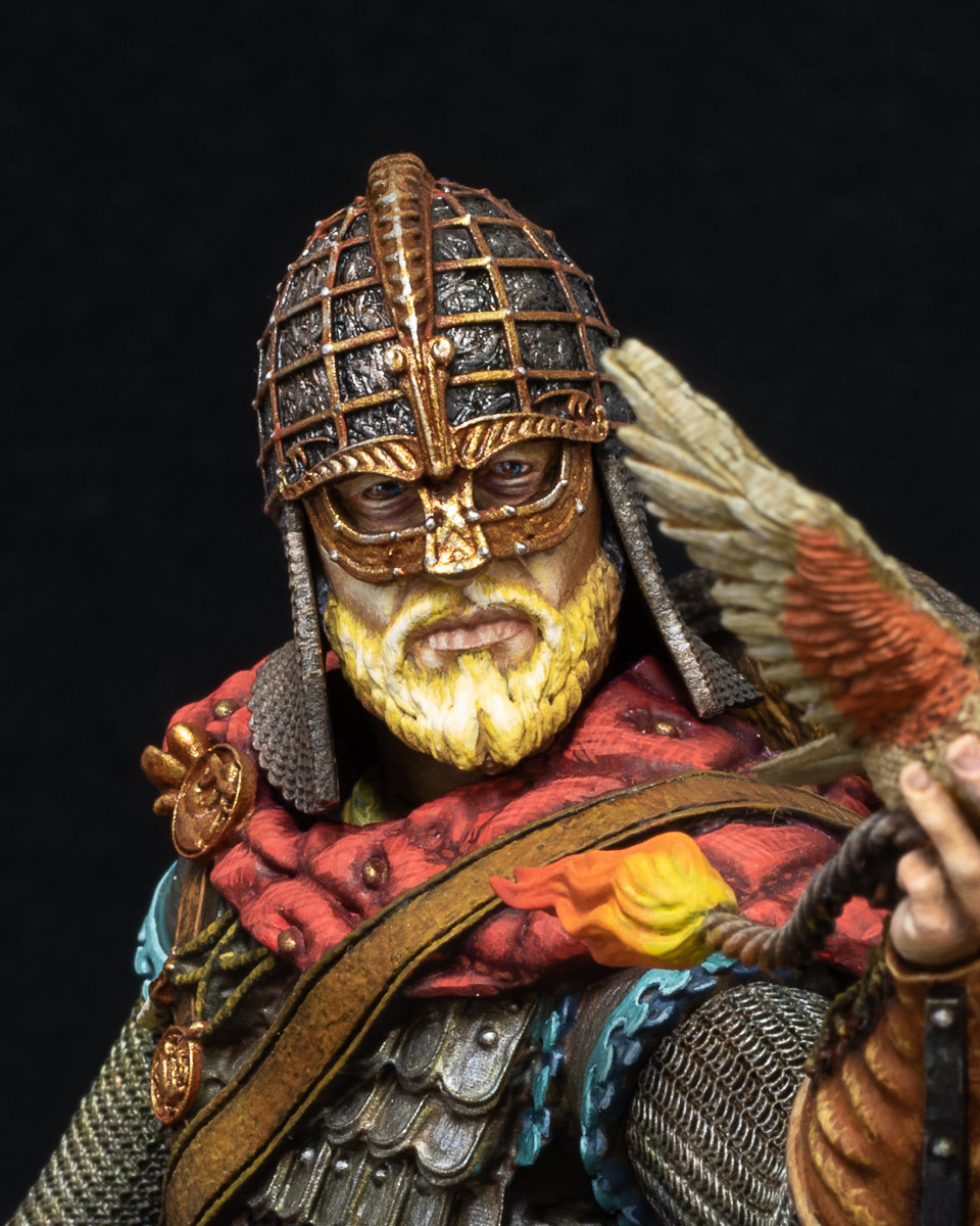 Miniature Bust of a Viking King.