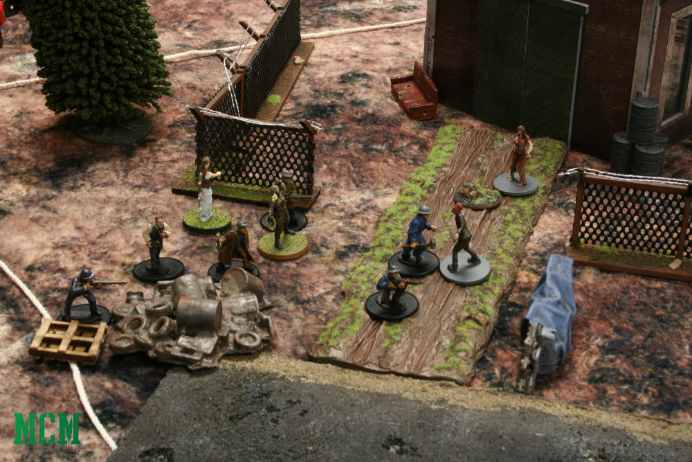 Warlord Games Bolt Action Miniatures in a Zombie Game