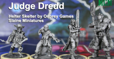 Judge Dredd Helter Skelter Miniatures Slaine Family by Osprey Games - Board Game Figures