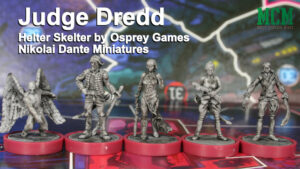 Nikolai Dante Miniatures in Judge Dredd Board Game