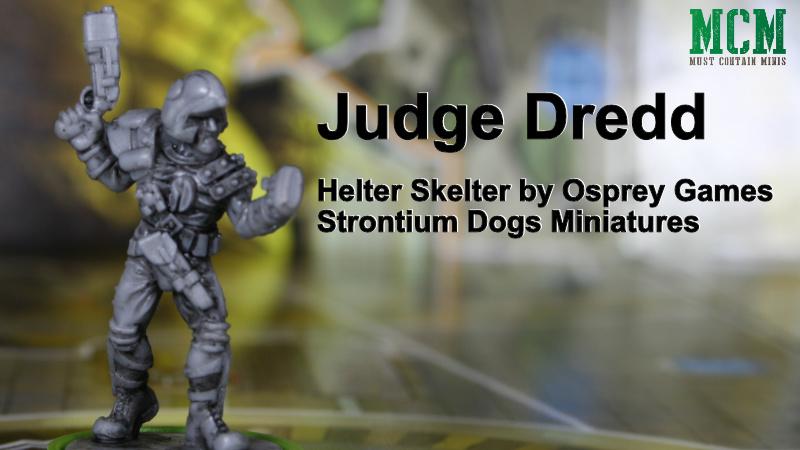 Strontium Dog Miniatures in Judge Dredd Board Game