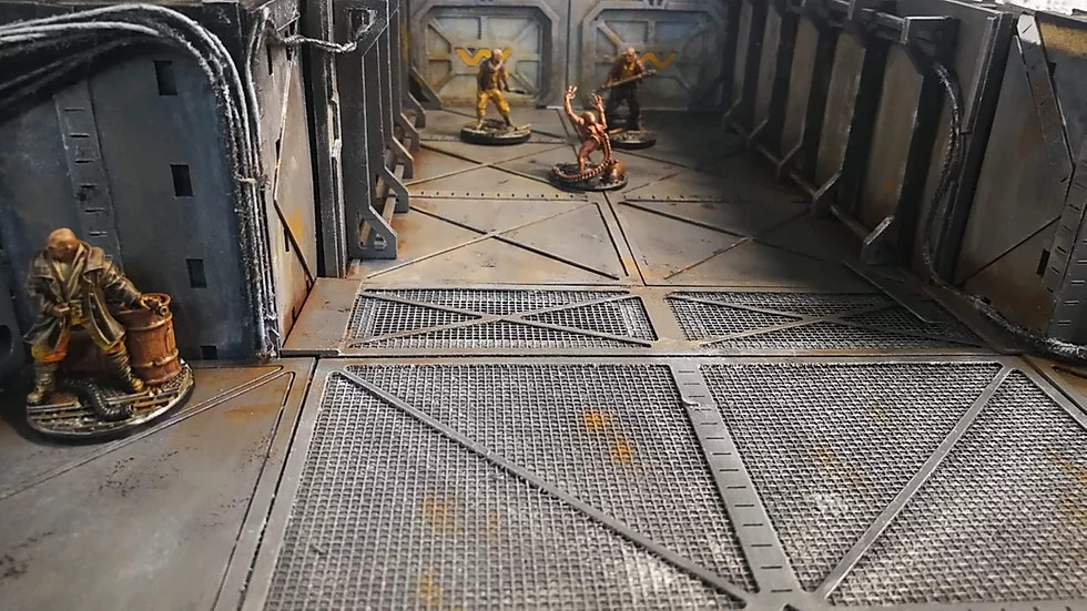 MDF corridors and star wells for 28mm gaming - Canadian Miniatures Gaming Companies