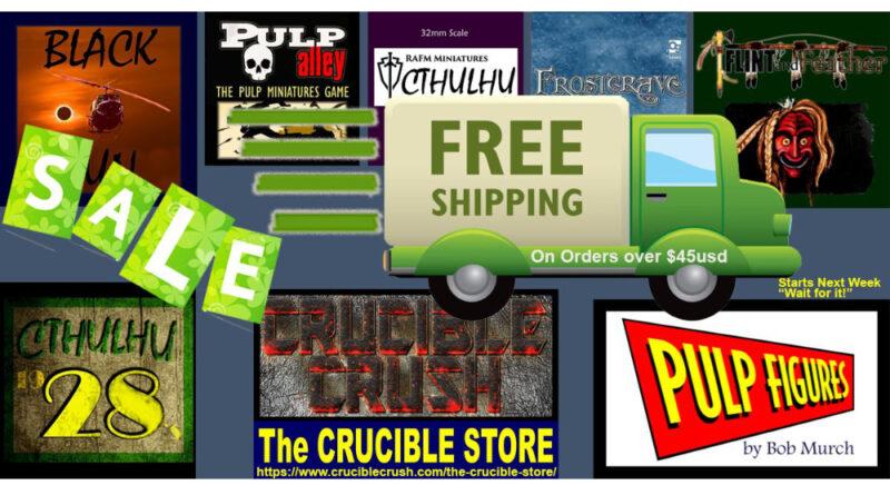 Crucible Crush News - Miniatures Sale