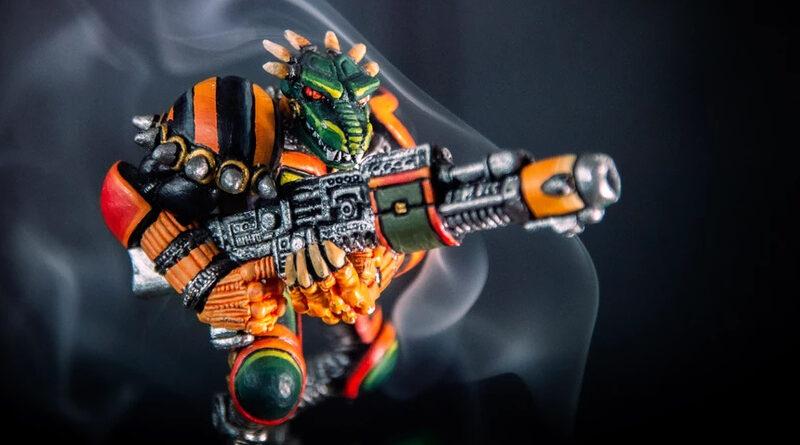 A miniature from Legions of Steel 2020 Kickstarter