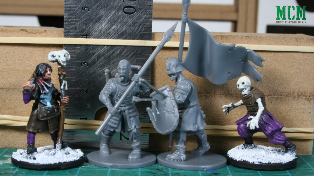 Scale Comparison - North Star Military Figure Frostgrave to Fireforge Games Living Dead Warriors