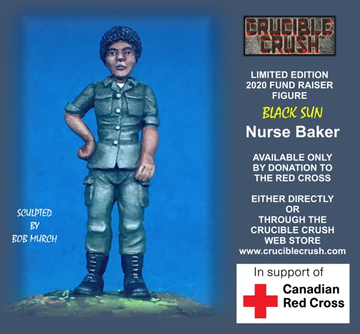 Black Sun Nurse Baker Miniature available by donation to Canadian Red Cross