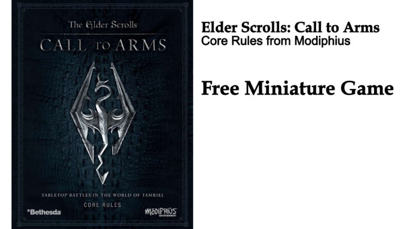 The Elder Scrolls Call to Arms Miniatures Game Free from Modiphius