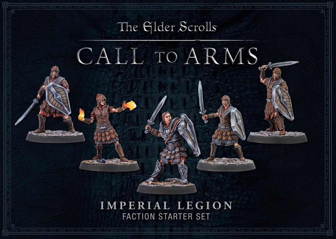 Elder Scrolls Imperial Legion Miniatures