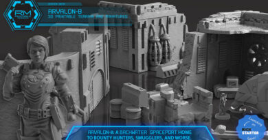 Arvalon 8 Printable Sci Fi Terrain Kickstarter Preview