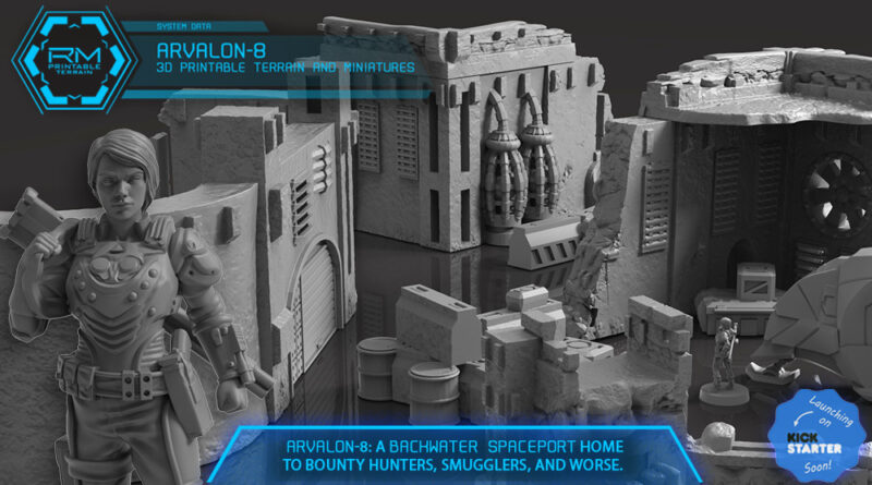Arvalon 8 Printable Sci Fi Terrain Kickstarter Preview