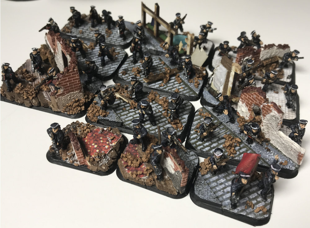 Strelkovy Platoon for Flames of War - 15mm Russian Infantry Miniatures - Painted showcase