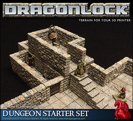 Printer Terrain Sale - 3D Printed Dungeon Tile System
