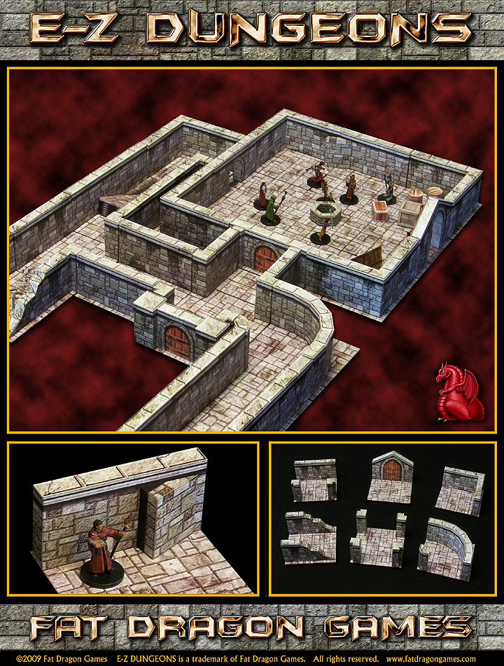 Paper Dungeon Terrain for 28mm gaming - Printer Terrain Sale