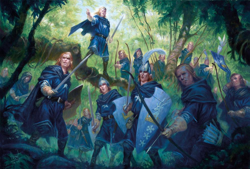 Armies of Oathmark. The Artwork for Oathmark's Elf Light Infantry.