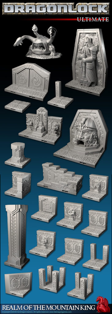 Fat Dragon Games Sale - Dwarf Kings Hold - Dwarf Hallways - STL 3D Printer Files