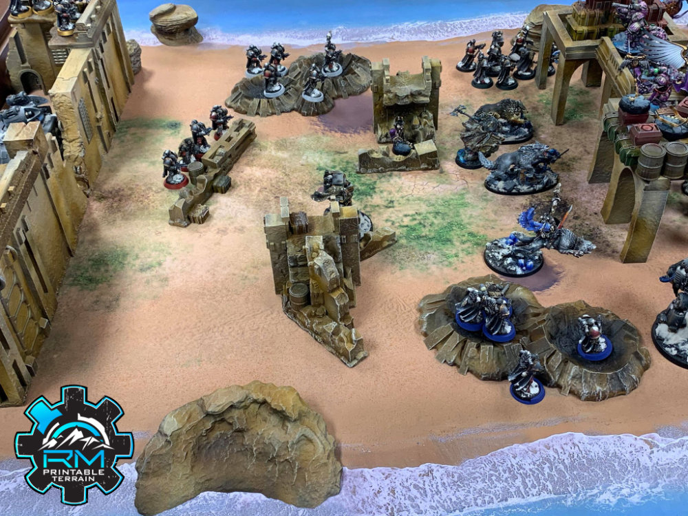 3D Printer Sci-Fi Scatter Terrain compatible with Warhammer 40,000.