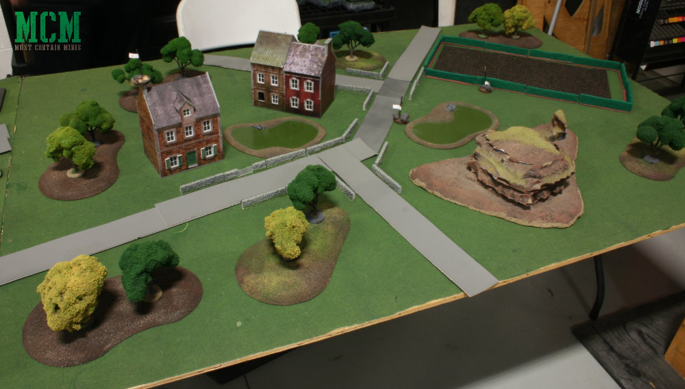 Bolt Action table set up for a Key Positions battle.
