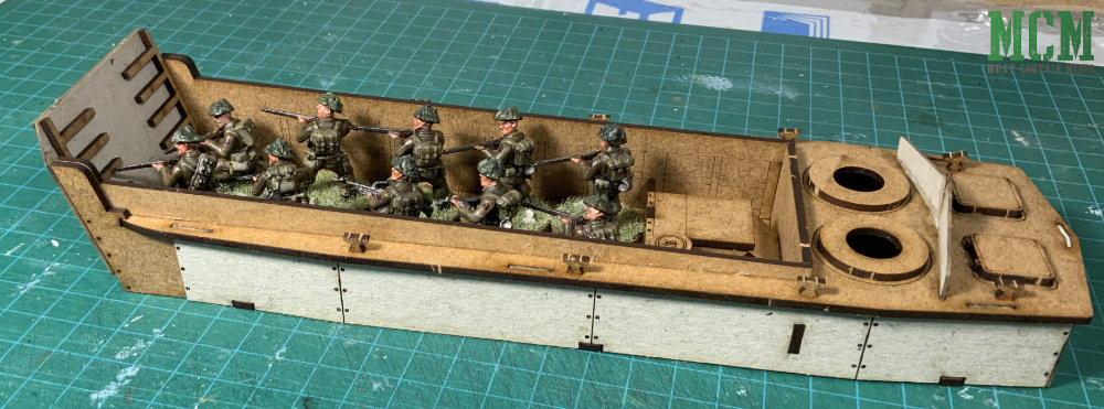 A Sarissa Precision LCVP Landing Craft Vehicle Personnel for 28mm WW2 gaming