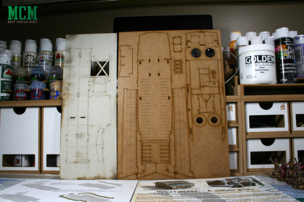The MDF Sprues for the 28mm Higgins boat