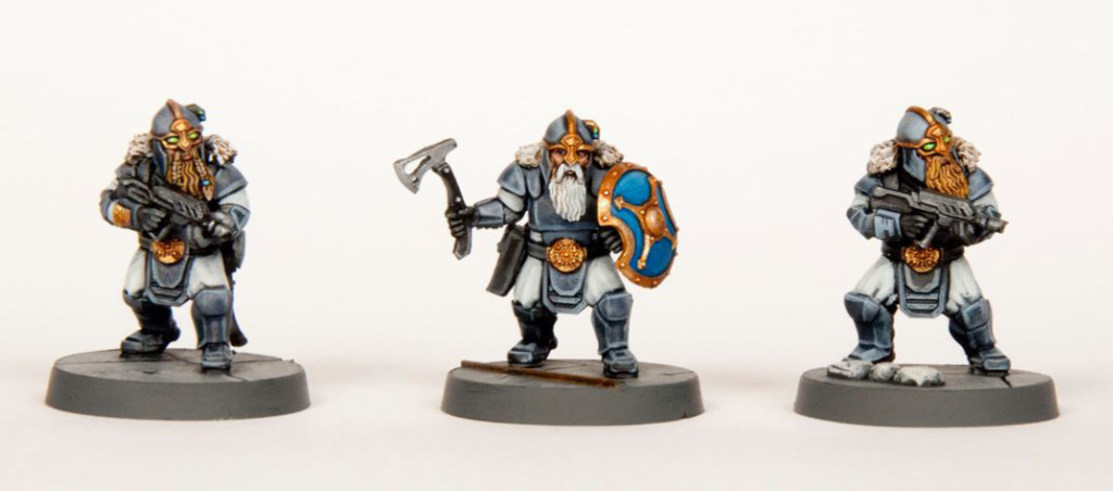 Three Space Dwarf miniatures