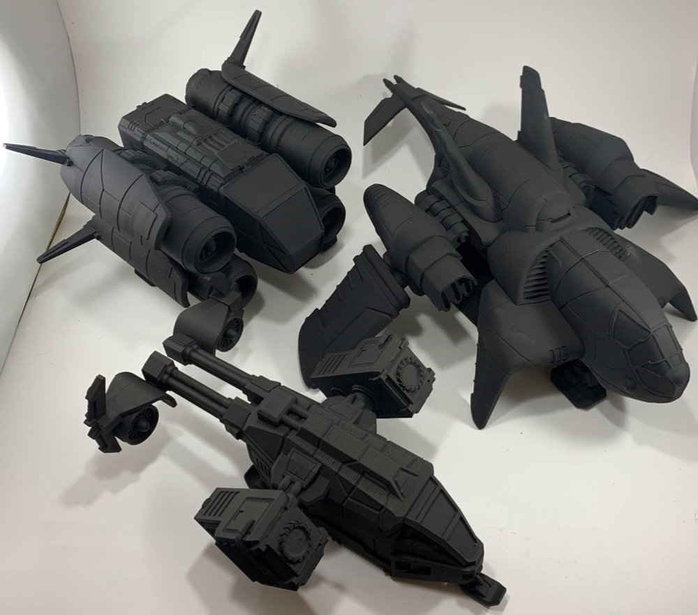 The Space Ships of Arvalon 8 by RM Printable terrain