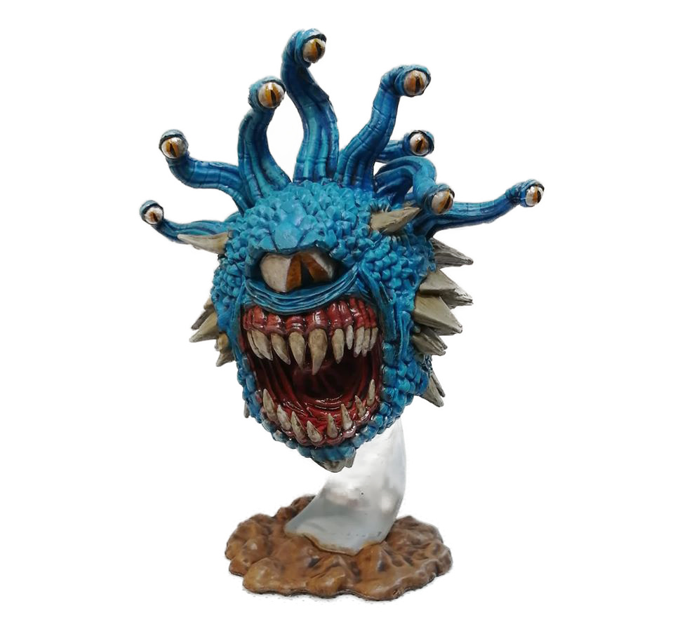 A painted Dungeons and Dragons Beholder miniature by Dave Lamers