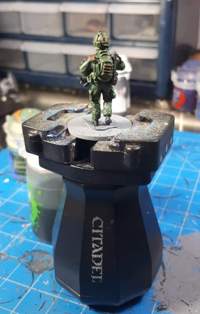The back of a Canadian Soldier. A work in progress.