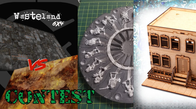 Cardboard Dungeon Games has a Charity Draw where you can win some of the prizes in this picture