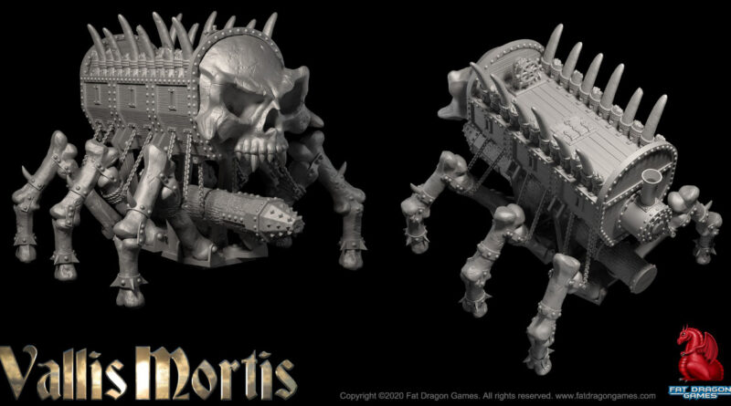 The Deathwalker from Fat Dragon Games Vallis Mortis Kickstarter campaign for 3D printed miniatures and terrain