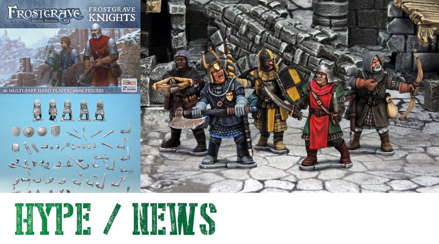 Frostgrave Plastic Knights miniatures for 28mm fantasy gaming