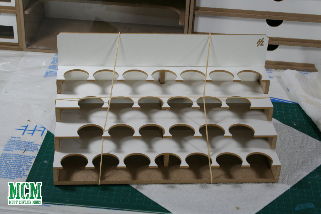 A HobbyZone 36mm Paint Rack for GW paints - HobbyZone Workstation
