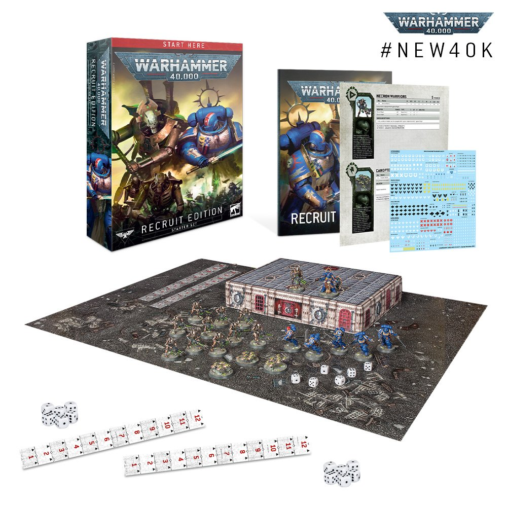 The Recruit Level Warhammer 40000 starter set