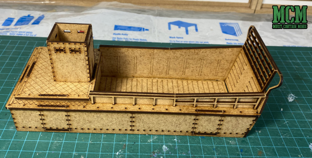 28mm Landing Craft by Sarissa Precision for Warlord Games' Bolt Action WW2 game.