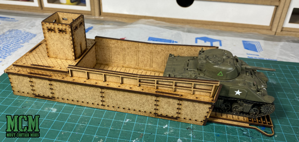 Review of and MDF Landing Craft by Sarissa Precision - Bolt Action LCM - 28mm