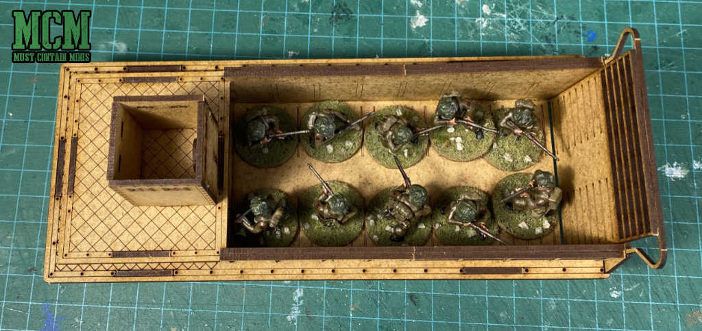 Even though it just holds 10 infantry models, this LCM holds 100 in game terms for Bolt Action.