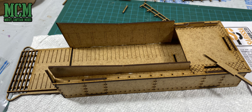 Repairing my MDF model kit after snapping a piece