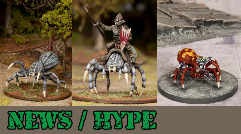 28mm Sci-Fi and Fantasy Miniature Spiders by Wargames Atlantic