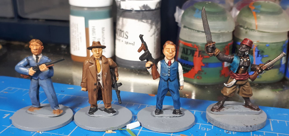 Some Minis that Dave painted up by Mobster Miniatures and Wargames Foundry.