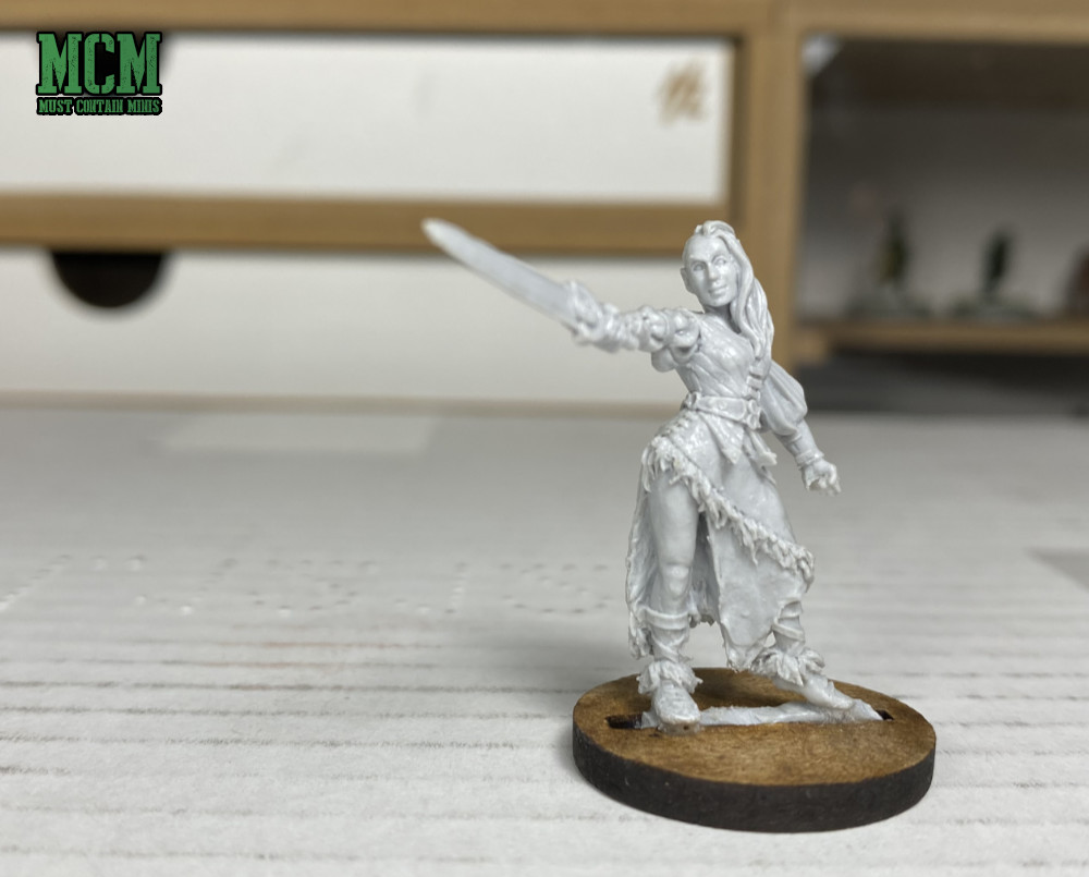 Coco the Female Human Barbarian - 28 to 32mm gaming miniature