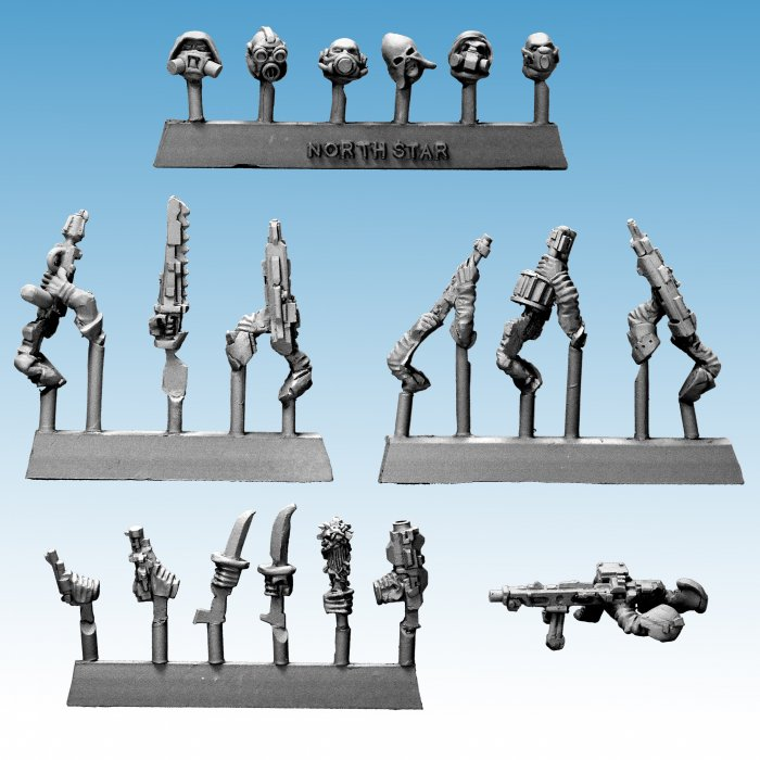 Stargrave Weapons for Frostgrave Cultists - Sci Fi Weapons Pack