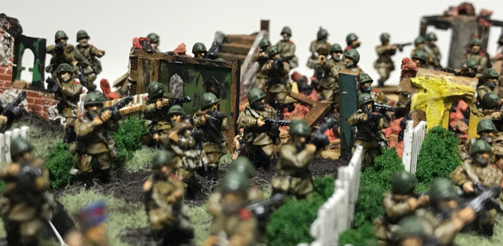 Russian 15mm SMG Company for WW2 Gaming