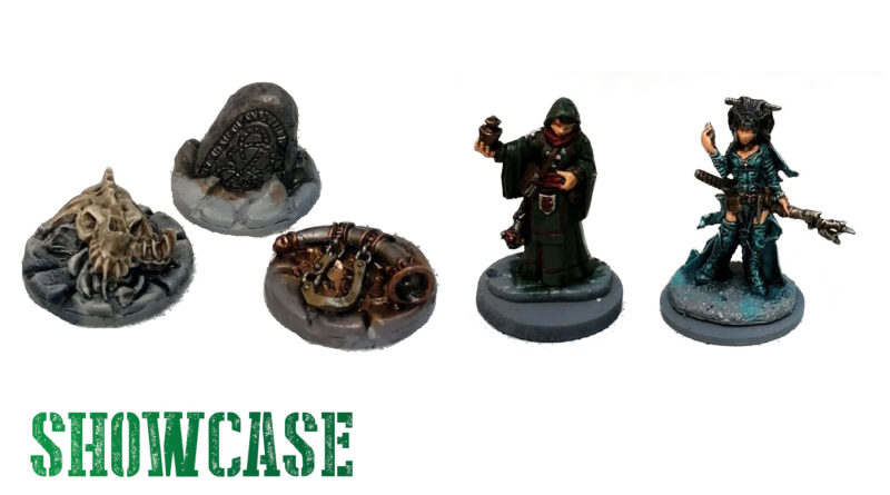 Frostgrave Showcase with Forgotten Pacts Objectives and Reaper Miniatures