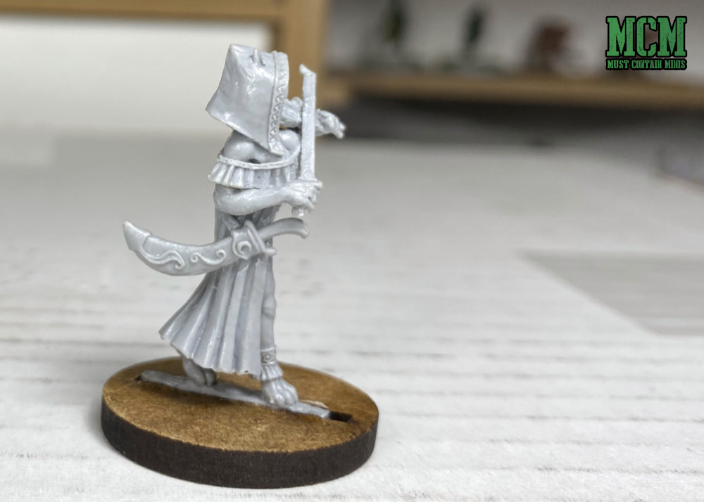 Kathja the Female Catling Bard - Dungeons and Dragons miniature for 5E
